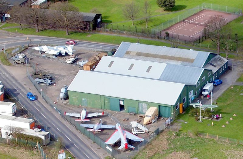 The RAF Manston Museum from the air